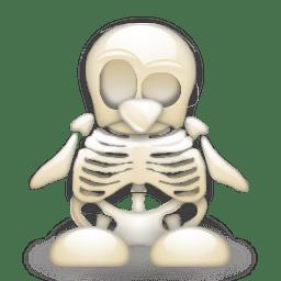 linux tux scheletro