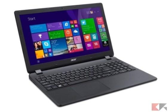 Acer Extensa EX2519-C9X5 Portatile, Display da 15.6_, Processore Intel Celeron N