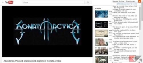 visualizzare il testo delle canzoni su YouTube