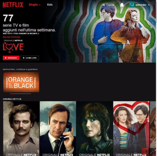 netflix - guardare serie tv in streaming