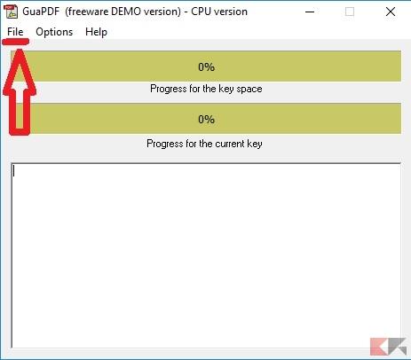 come rimuovere protezione PDF - GuaPDF