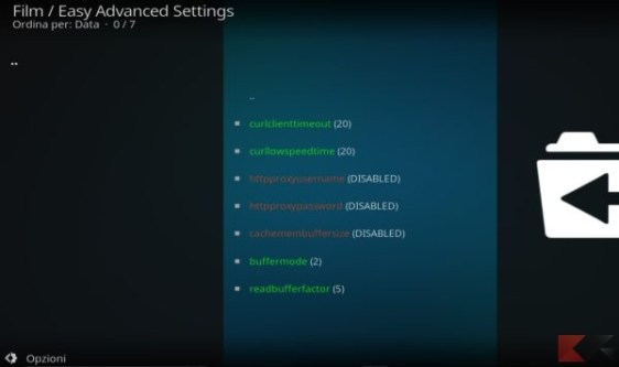 migliorare lo streaming di Kodi con Easy Advanced Settings