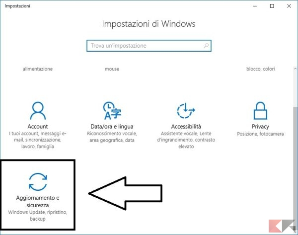Backup e ripristino dei file in Windows 10
