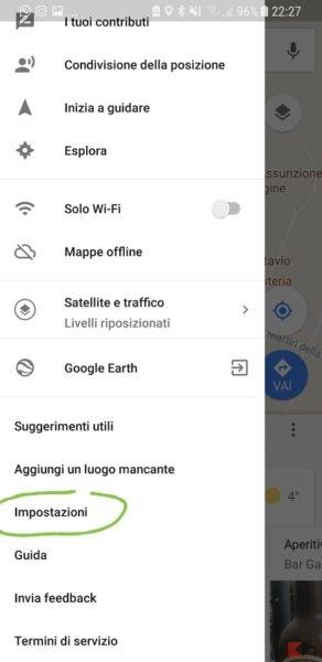 posizione google