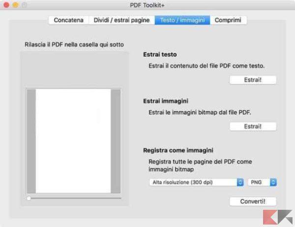 Estrarre immagini da PDF su Mac