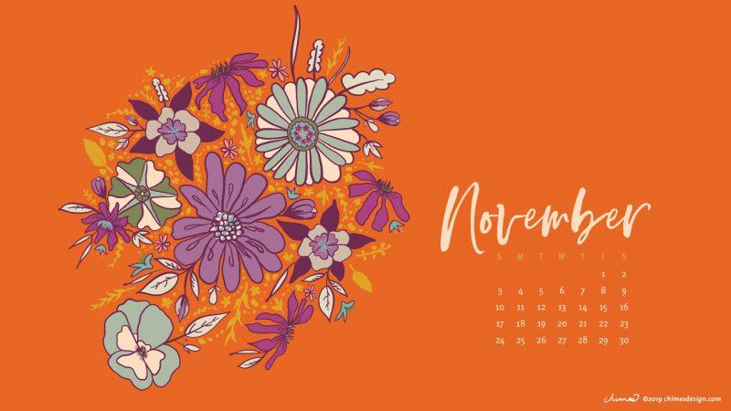 2019 november calendar chimesdesign