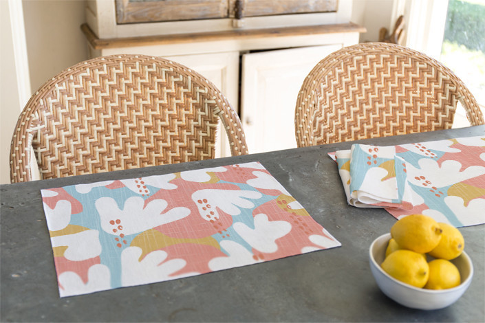 Just Like Living in Paradise placemat and napkin