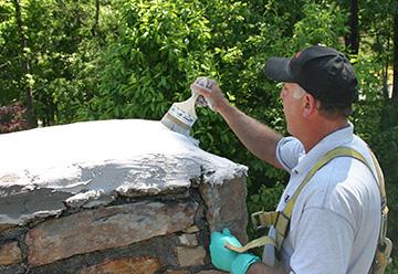 Chimney Crown Repair  Atlanta  Cement Chimney Crown
