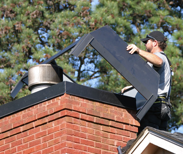Chimney Rain Pans  Atlanta Chimney Sweep  Chimney Shrouds  Prevent Chimney Leaks