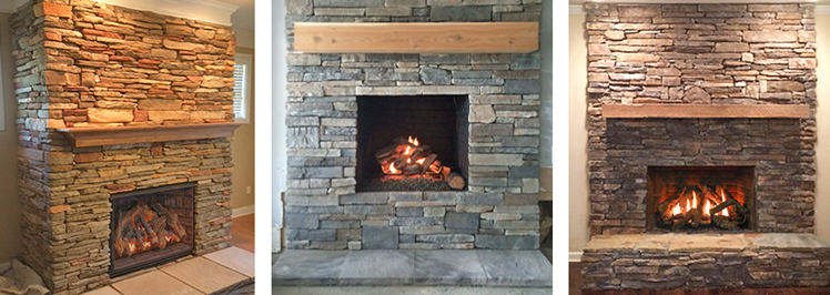 Fireplace Makeover Packages  Atlanta  Gas Fireplace Insert  Fireplace Renovation