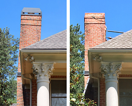 Leaning Chimney Repair  Fix a Leaning Chimney