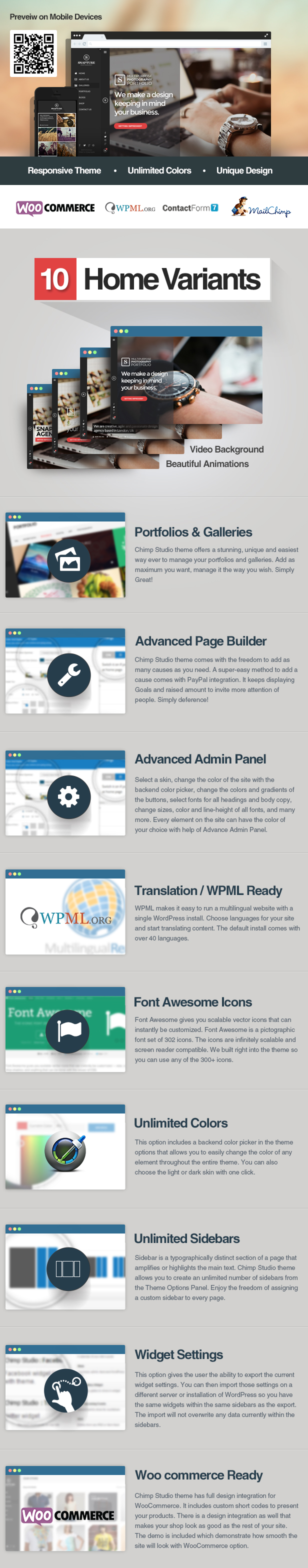 Snapture Photography & Corporate WordPress Theme - 1