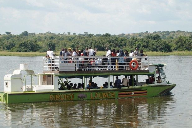 Group one takes a launch drive on the Nile