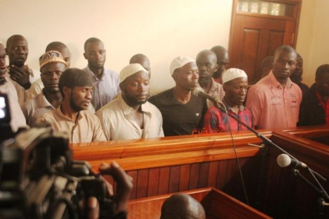 The suspects were not allowed this time to speak to court