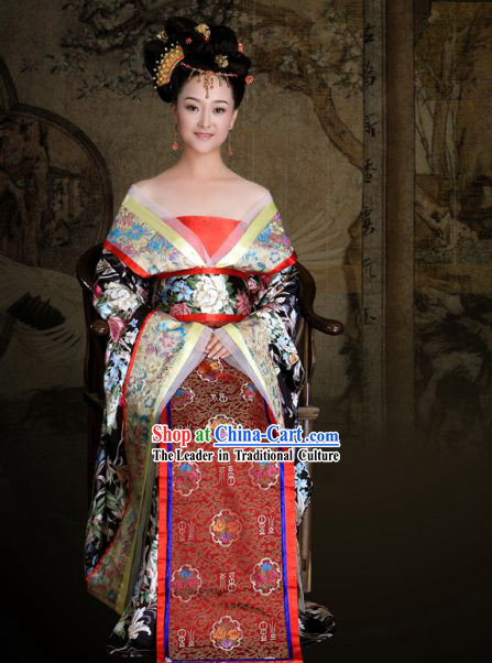 Ancient Chinese Tang Princess Costumes Complete Set