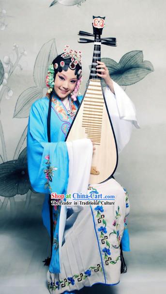 Beijing Opera Hua Dan Actress Costumes Complete Set
