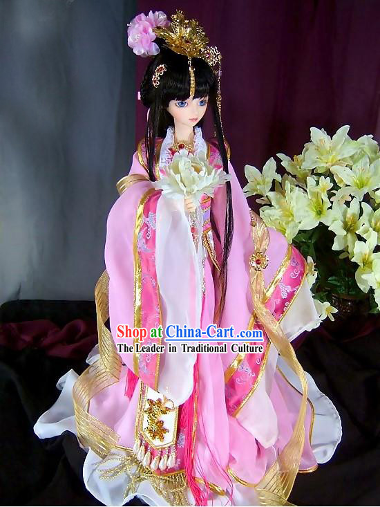 BJD Ancient Chinese Princess Dress and Hair Accessories