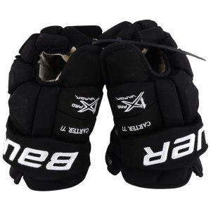 Los Angeles Kings Jeff Carter Fanatics Authentic Game-Used #77 Black Bauer Gloves from the 2017-18 NHL Season