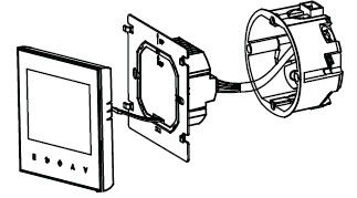2 pipe 4 pipe integrated thermostat-reach set temp fan can