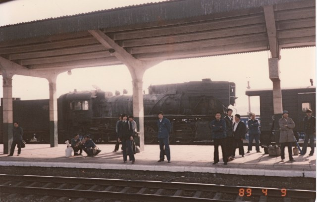 Steam locomotive in China