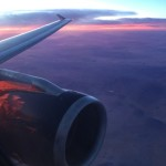 Airplane-Engine-Sunset