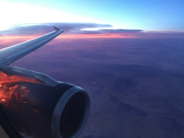 Sunset at 33K feet