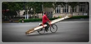 China, Shanghai, Bike Transport