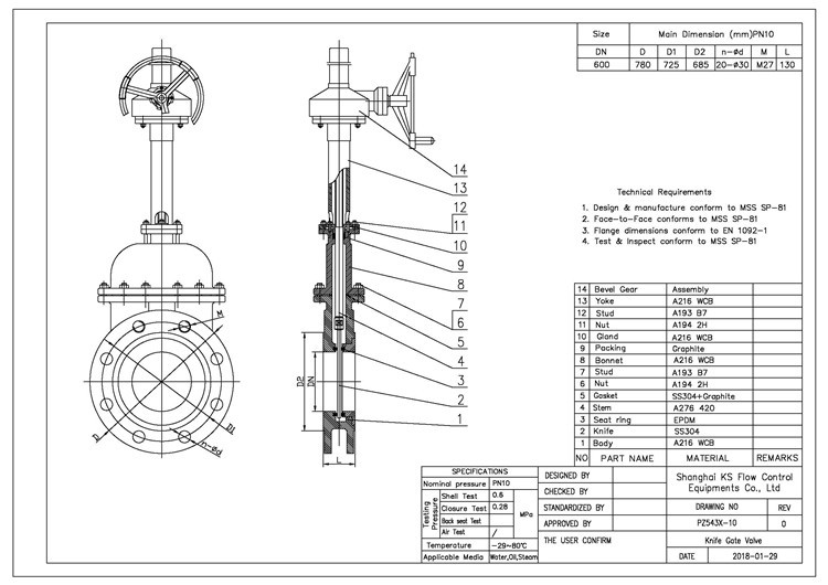 China Low Price Knife Gate Valve Manufacturers and