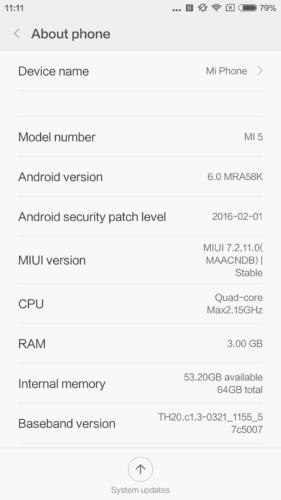 Xiaomi Mi 5 Smartphone mit 64GB