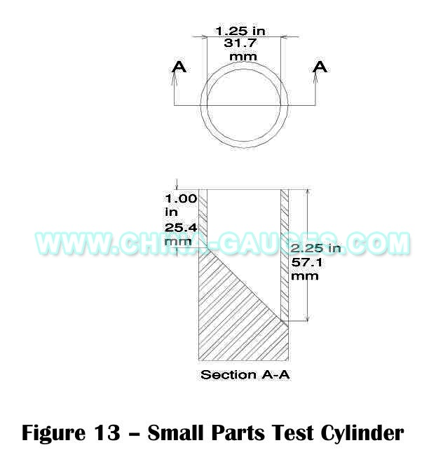 Small Parts Test Cylinder for Toys Small Part Test