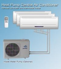 china heat pump   2IN1,one outdoor for many indoor units ...