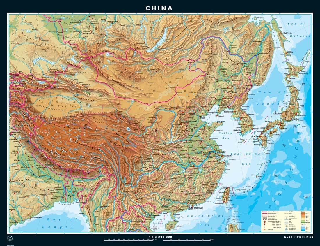 Downloadable Physical Maps Of China By China Mike