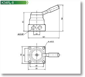 Pneumatic Valve K34R6 Series Hand-switching Valve,K34R6