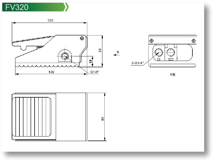 Pneumatic Valve 4F Series Foot Valve,4F Series Foot Valve