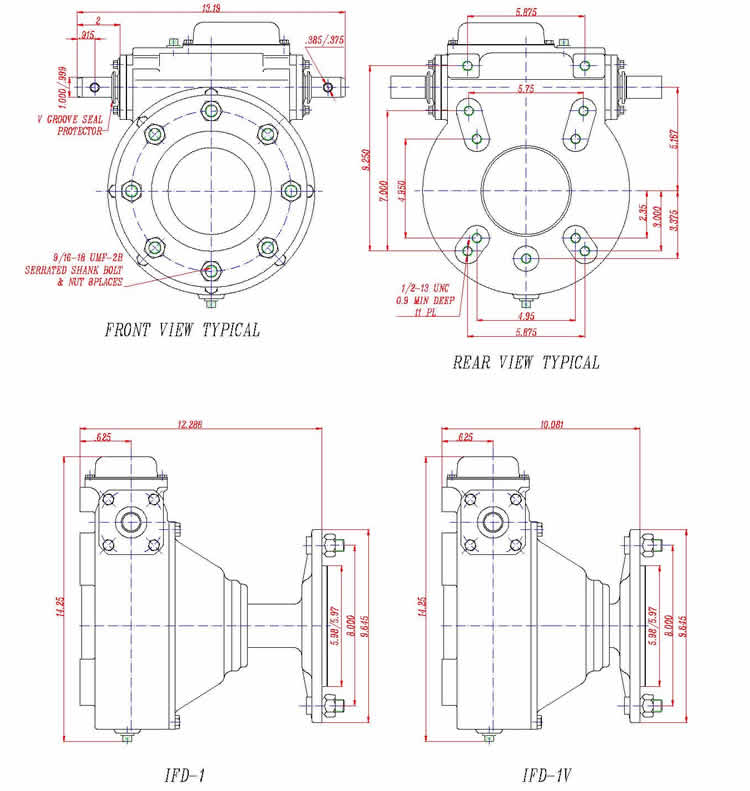 Irrigation,Gearboxes for irrigation system,AEP-1 Series
