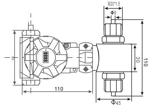 China Industrial Smart Differential Pressure Transmitter