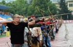Contestants taking aim at the archery tournament, in Tianshui, Gansu, on Sept 9.