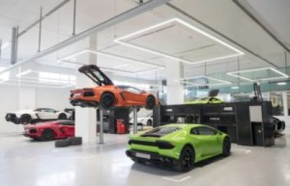 Lamborghini открыл самый большой салон