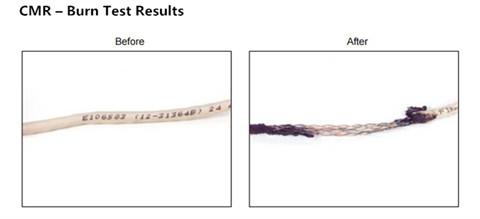 cmr-burn-test-result