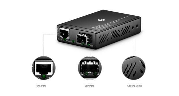 Figure 3: 1SFP+1RJ45 Ports Mini Gigabit Ethernet Media Converter