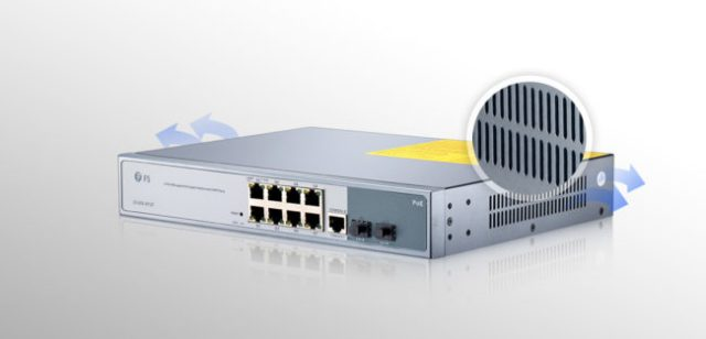 8-Port Gigabit PoE+ Managed Switch with 2 SFP