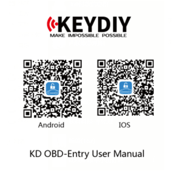 KEYDIY B-OBD KD Entry for Smartphones to Car Remotes Entry