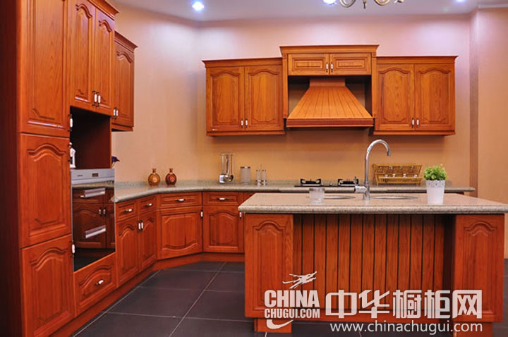 gray kitchen island table with benches 颜色饱满自然 乡村风格橱柜图片_中华橱柜网