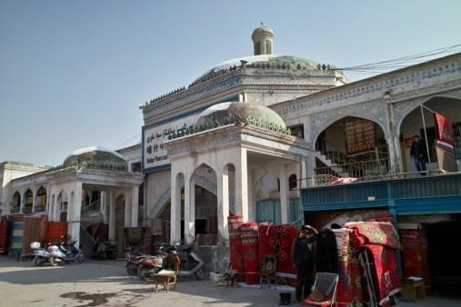 Der Eingang zum Großen Bazar von Kashgar