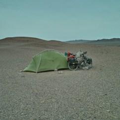 Orkan in der Wüste in Xinjiang