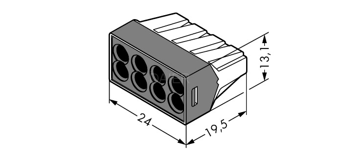 Terminal block connector for series 773-102, 773-104, 773