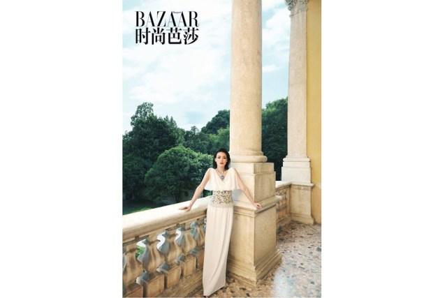 Actress Shu Qi poses for the fashion magazine