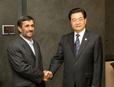 Chinese, Iranian presidents meet in Yekaterinburg
