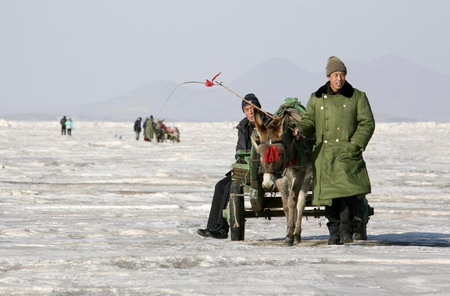 In Bohai, all at sea on the ice