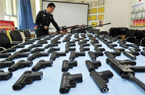 Replica guns seized in Xinjiang1 Chinadailycomcn